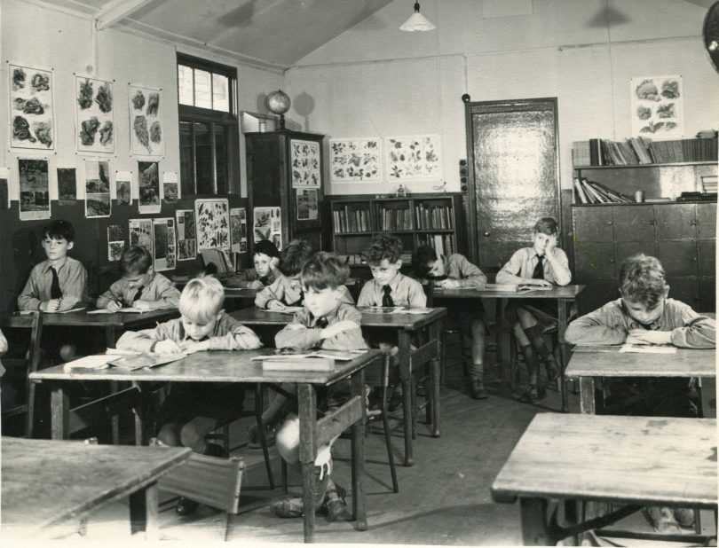 Boys in the classroom