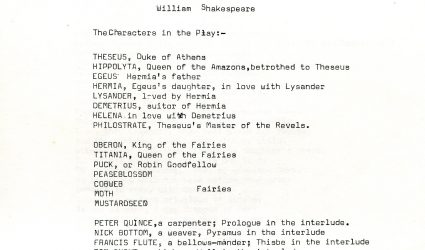 A Midsummer Night's Dream Play Script