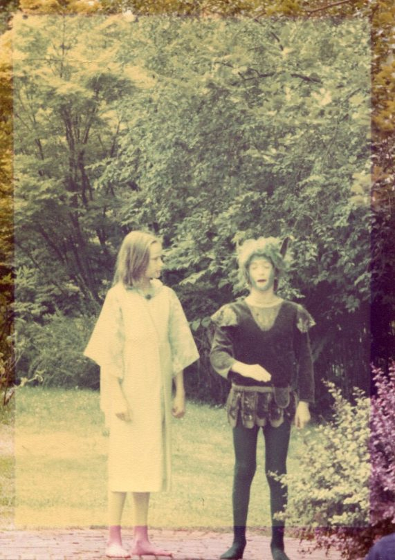 A photograph from a production of A Midsummer Night's Dream.