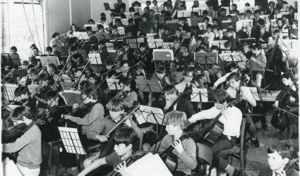 Several schools participating in a Concert