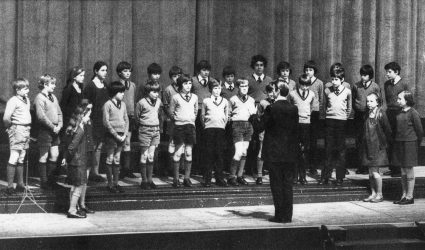 School choir on Stage.