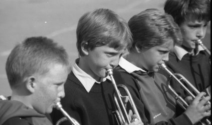 Children playing brass instruments 1988