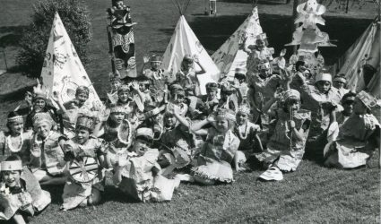 Children dressed as Indians