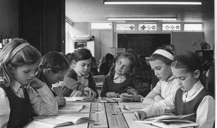 Girls Reading in Lower School