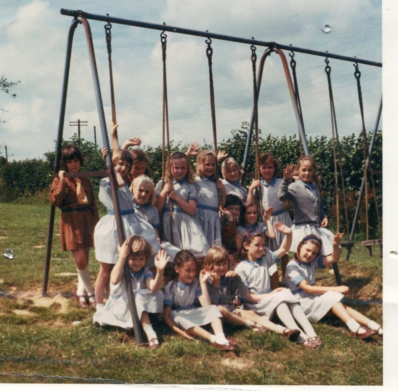 Little Stream Girls and Brownies on the swings