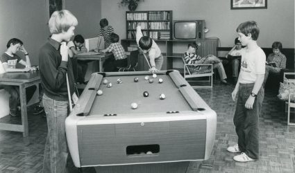 Playing Pool in the Lodge Boarding House
