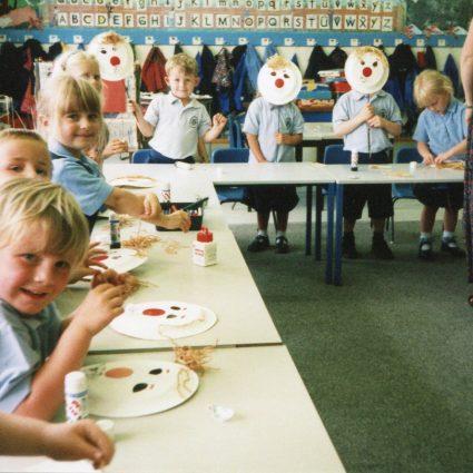 Nursery Classroom Art Activity 1998