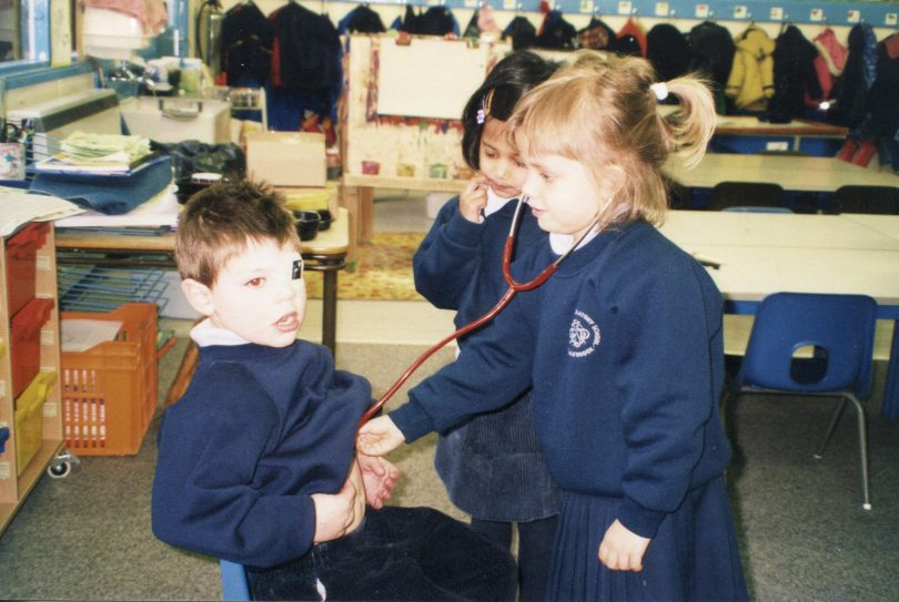 Playing in the Nursery classroom 1999