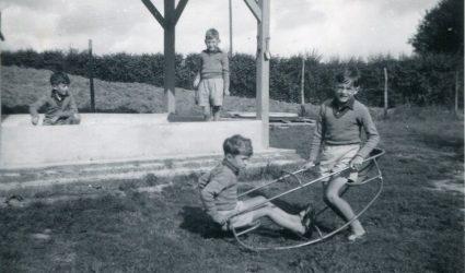 Little Stream Boys at Play
