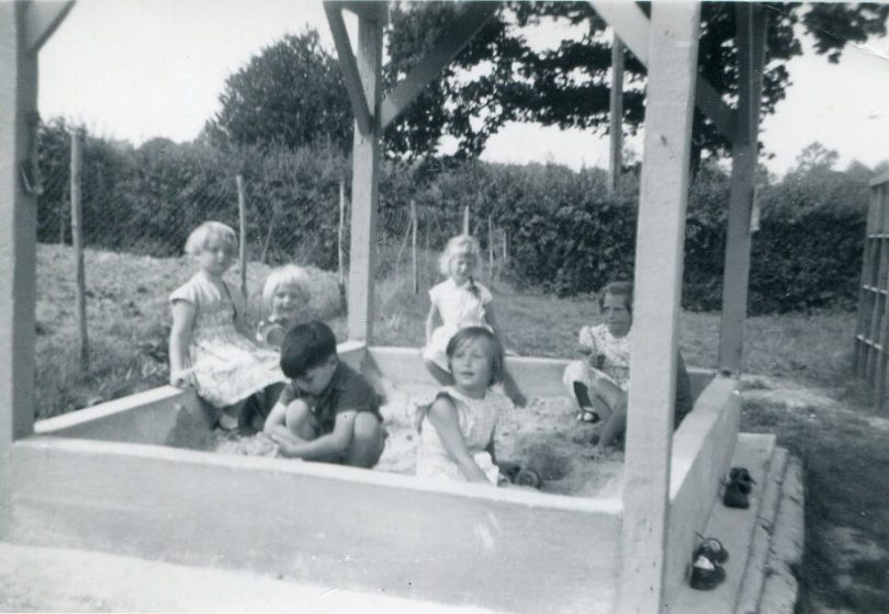 Little Stream children in the Sandpit
