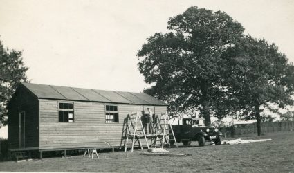 Building of the huts 1938