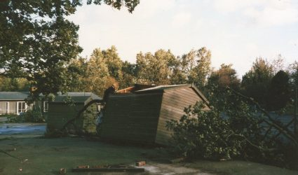 Storm of 1987 - damage around the school.