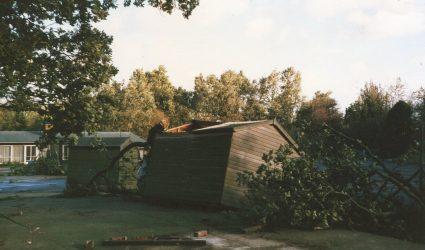 Storm of 1987 - damage around the school.