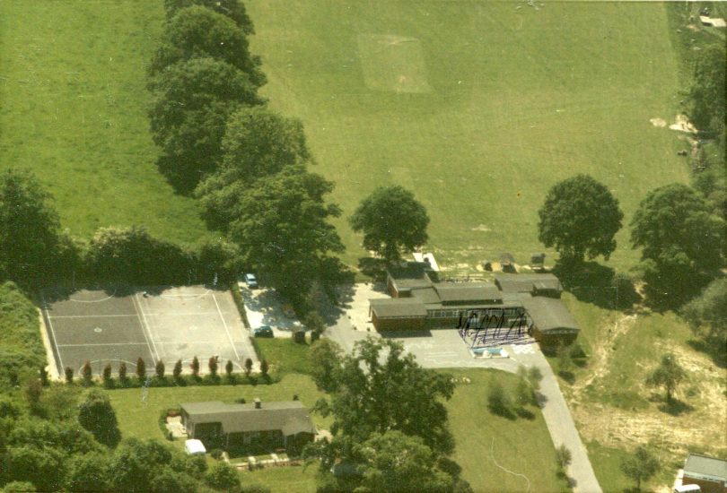 Aerial view of Nash House