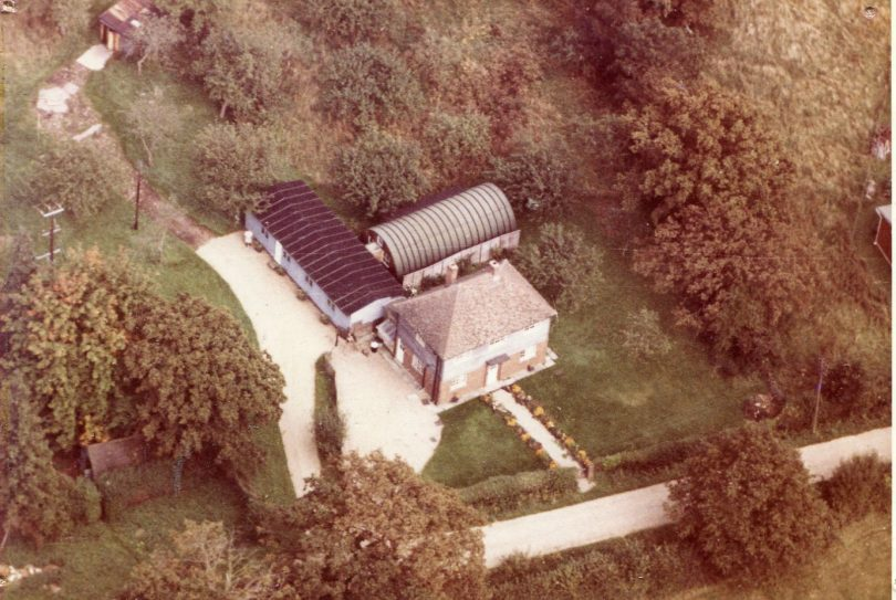 Aerial view of 'Lodge' Boarding House.