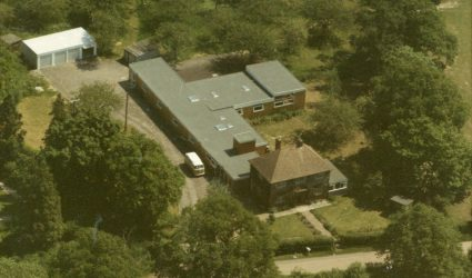 An aerial view of Lodge boarding house.
