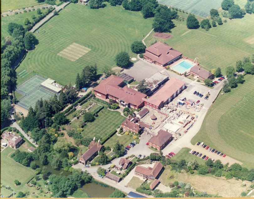 An aerial view of Upper School