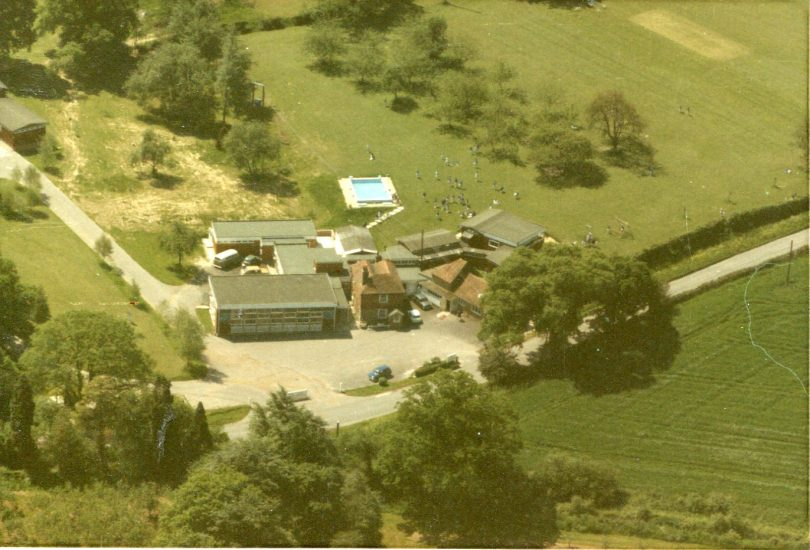 An aerial view of Lower School