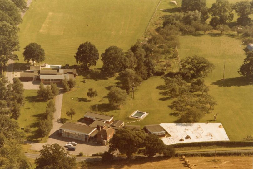 An aerial view of Lower School and Nash House