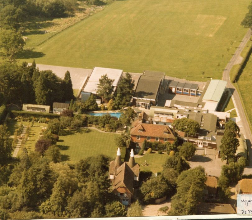 An aerial view of Upper and Middle School.