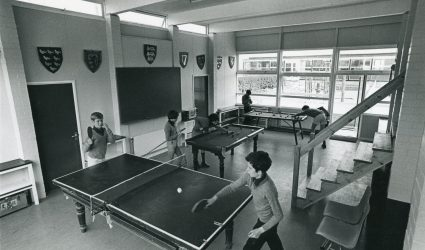 Boys playing Table Tennis and Snooker