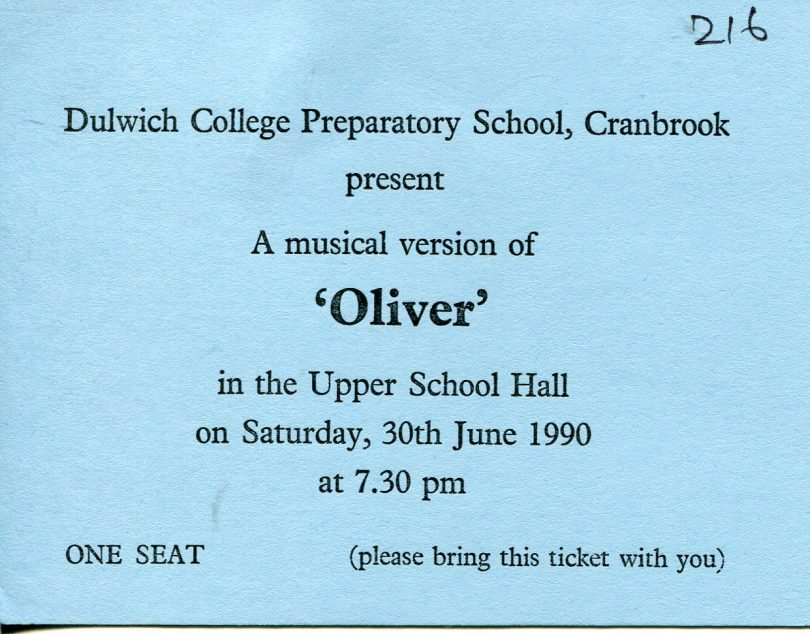 Production of Oliver 1990