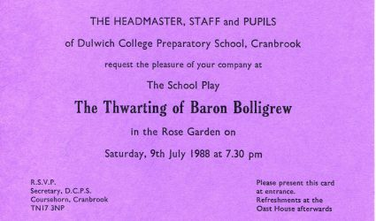 The Thwarting of Baron Bolligrew Play Ticket