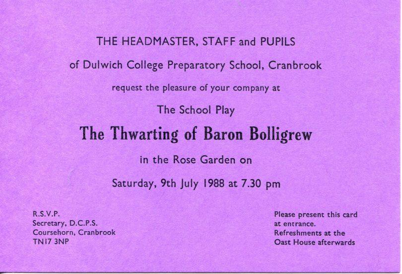 The Thwarting of Baron Bolligrew