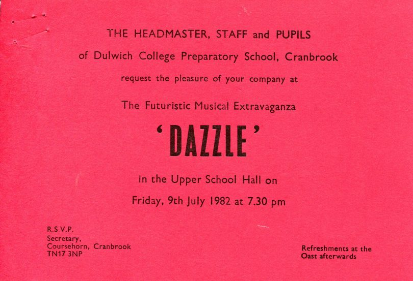 Invitation for the Performance of Dazzle