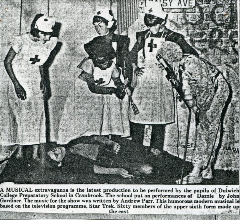 Newspaper Article about the Performance of Dazzle