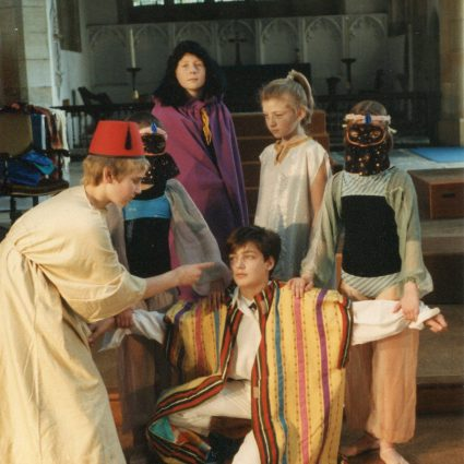 Photographs from a performance of Joseph and the Amazing Technicolor Dreamcoat.