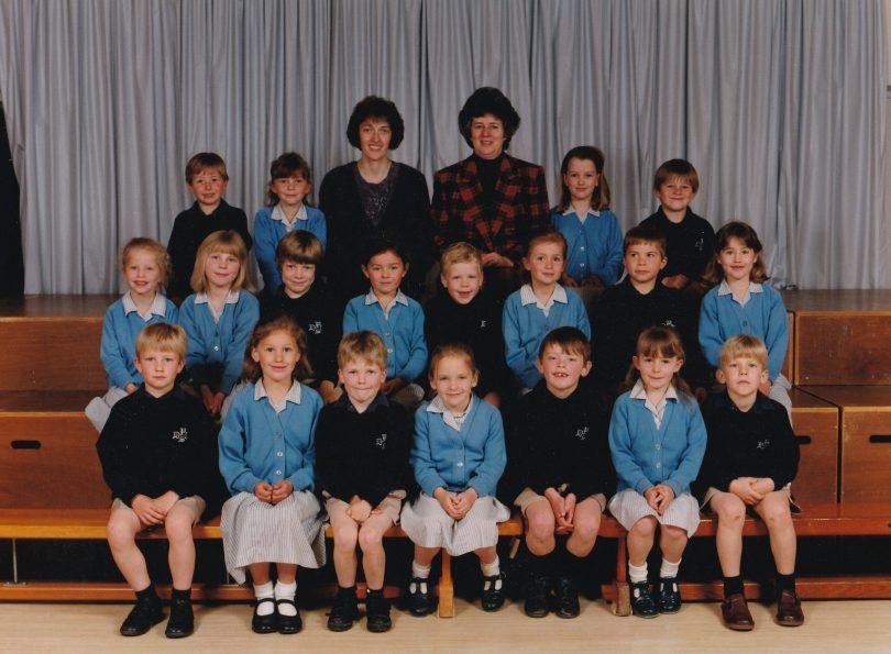 Photograph of class 1P