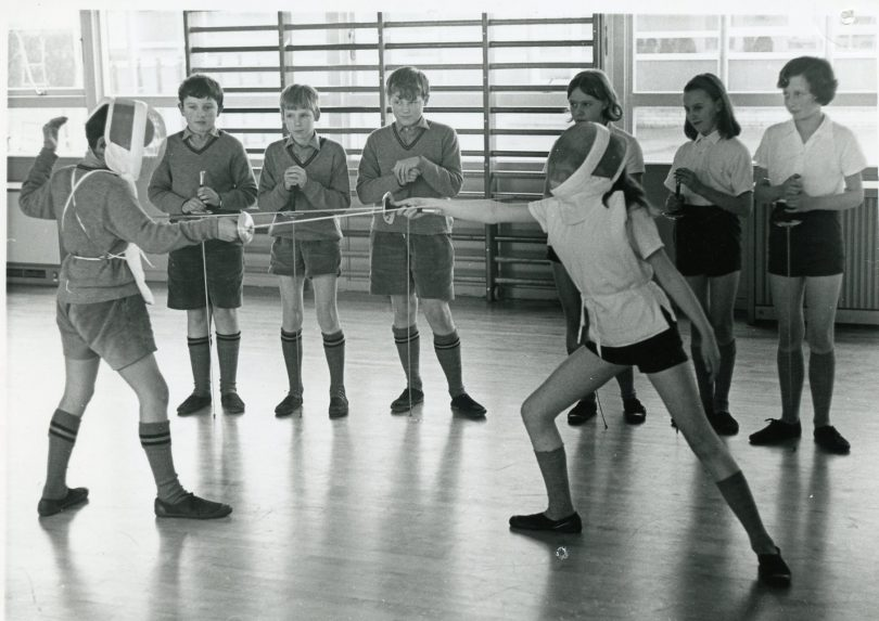 Two Children Fencing | Kent Messenger Newspaper