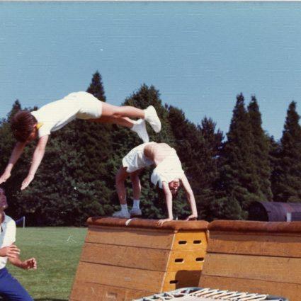 Outdoors Gymnastics Exhibition