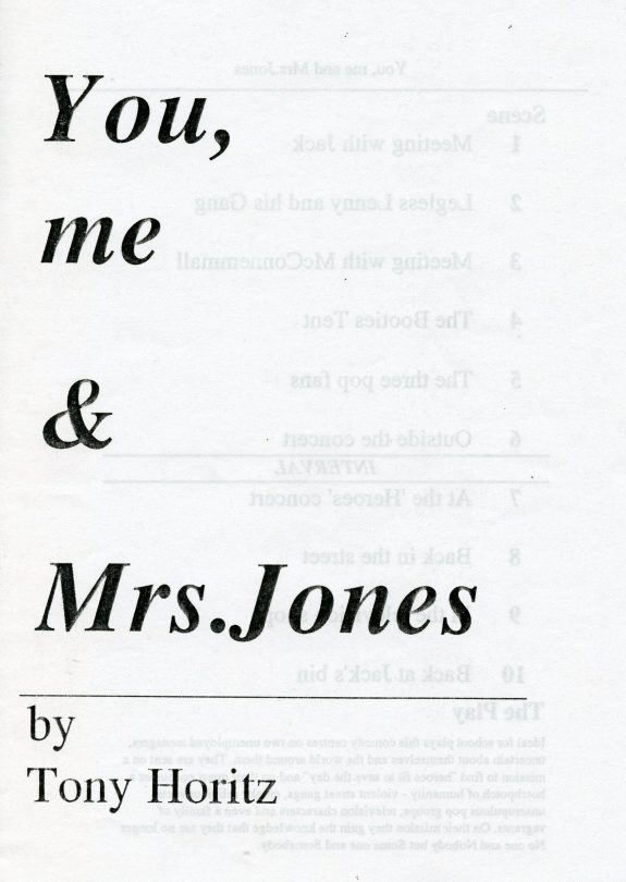 You, me and Mrs Jones- Play | School