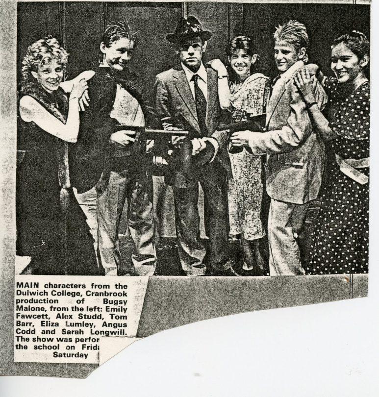 Bugsy Malone - Newspaper Article