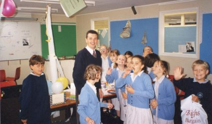 Mr Austen with his Year Five Class